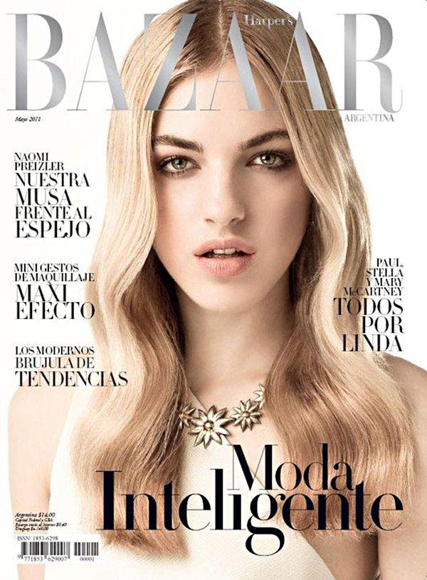 naomicover0 Naomi Preizler for <em>Harpers Bazaar Argentina</em> May 2011 (Cover)