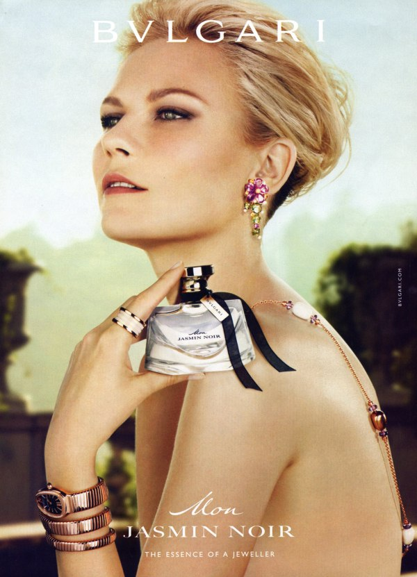 noir Kirsten Dunst for Bulgari Jasmin Noir Fragrance Campaign