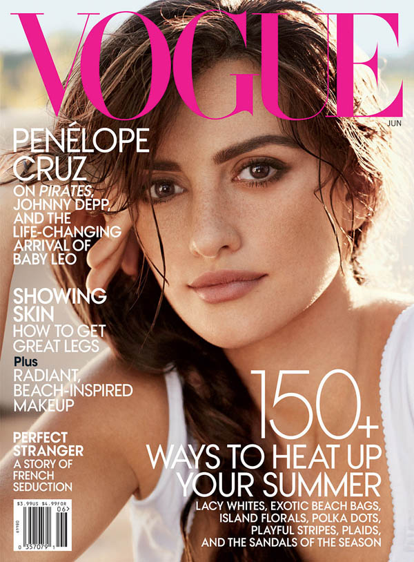 penelopecover <em>Vogue US</em> June 2011 Cover | Penelope Cruz by Mario Testino