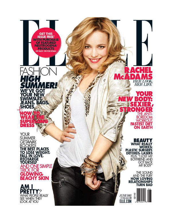 rachelcover <em>Elle US</em> June 2011 Cover | Rachel McAdams by Alexei Hay