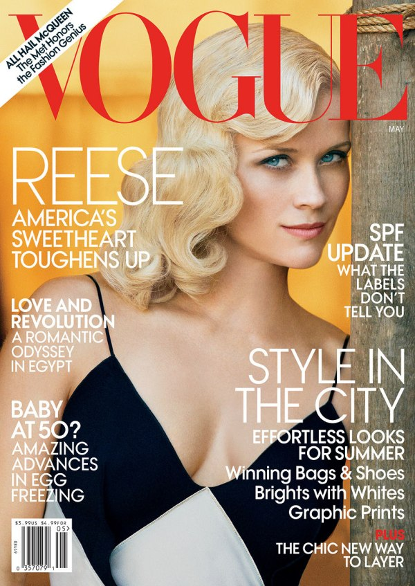 reesecover <em>Vogue US</em> May 2011 Cover | Reese Witherspoon by Peter Lindbergh