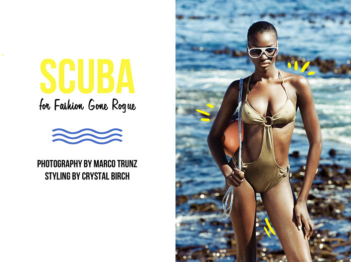 scuba Gaye McDonald by Marco Trunz for <em>Fashion Gone Rogue</em>