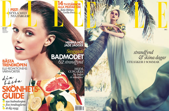 sweden <em>Elle Sweden</em> May 2011 Cover | Frida Gustavsson & Rosie Tupper by Andreas Sjodin