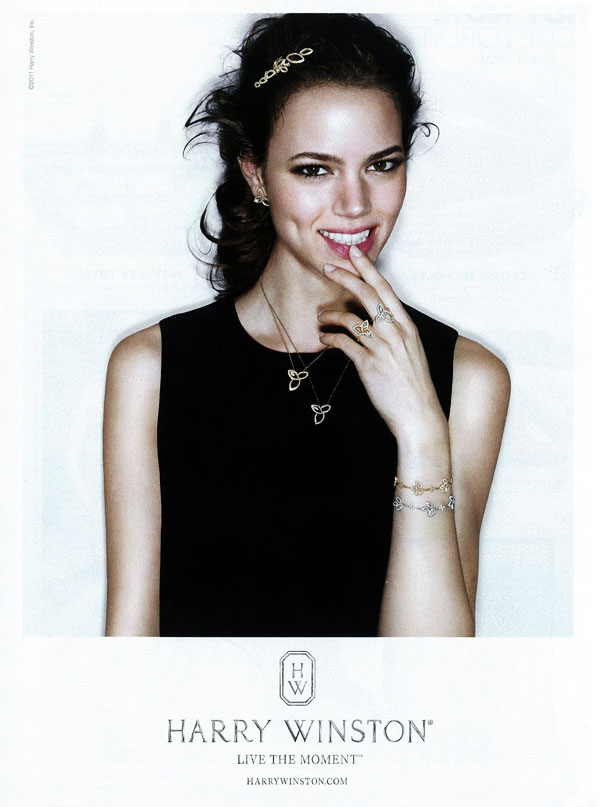 winston Freja Beha Erichsen for Harry Winston Jewelry 2011 Campaign (Preview)