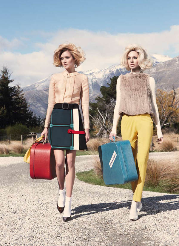 Emilia & Melissa were matching 60s twins for the July issue of Vogue Australia photographed by Nicole Bentley
