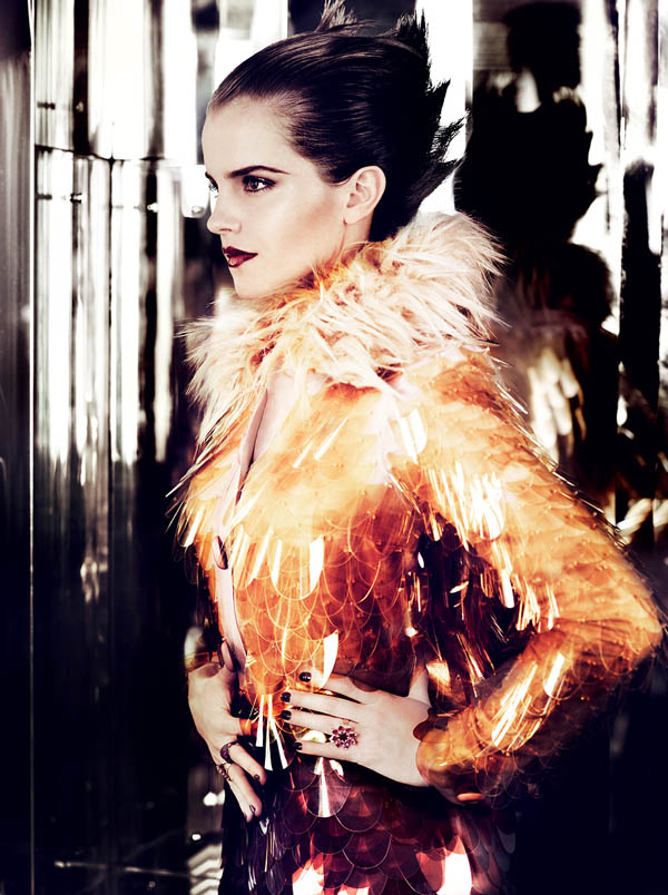 Emma Watson for Vogue US July 2011 by Mario Testino