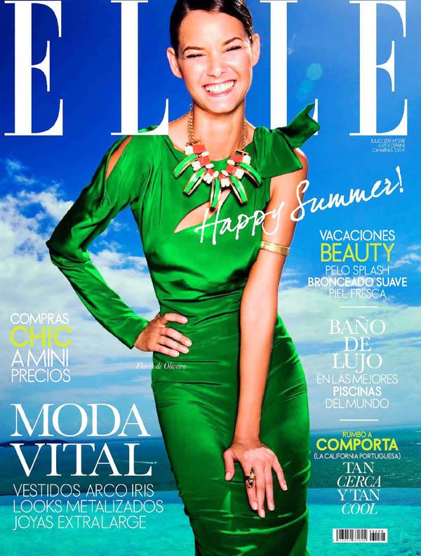 Elle Spain July 2011 Cover | Flavia de Oliveira by Juan Aldabaldetrecu